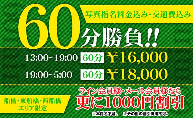 13時よりラストまで!60ぷん勝負!!