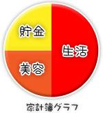 船橋 千葉 錦糸町の高収入風俗アルバイト【キャンパスサミットグループ】みくるの家計簿グラフ