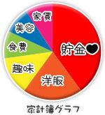 船橋 千葉 錦糸町の高収入風俗アルバイト【キャンパスサミットグループ】りおんの家計簿グラフ