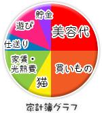 船橋 千葉 錦糸町の高収入風俗アルバイト【キャンパスサミットグループ】の家計簿グラフ